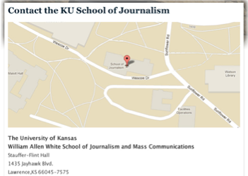 Example map of the school of journalism.