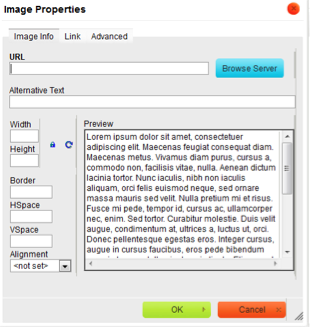 Screenshot of image upload box