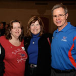 Provost Jeff Vitter and wife Sharon Vitter meet and greet Jayhawk supporters at the Big 12 championship series
